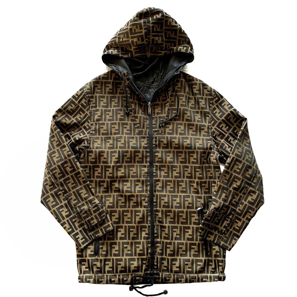 Image of Vintage Fendi Zucca Monogram Reversible Jacket