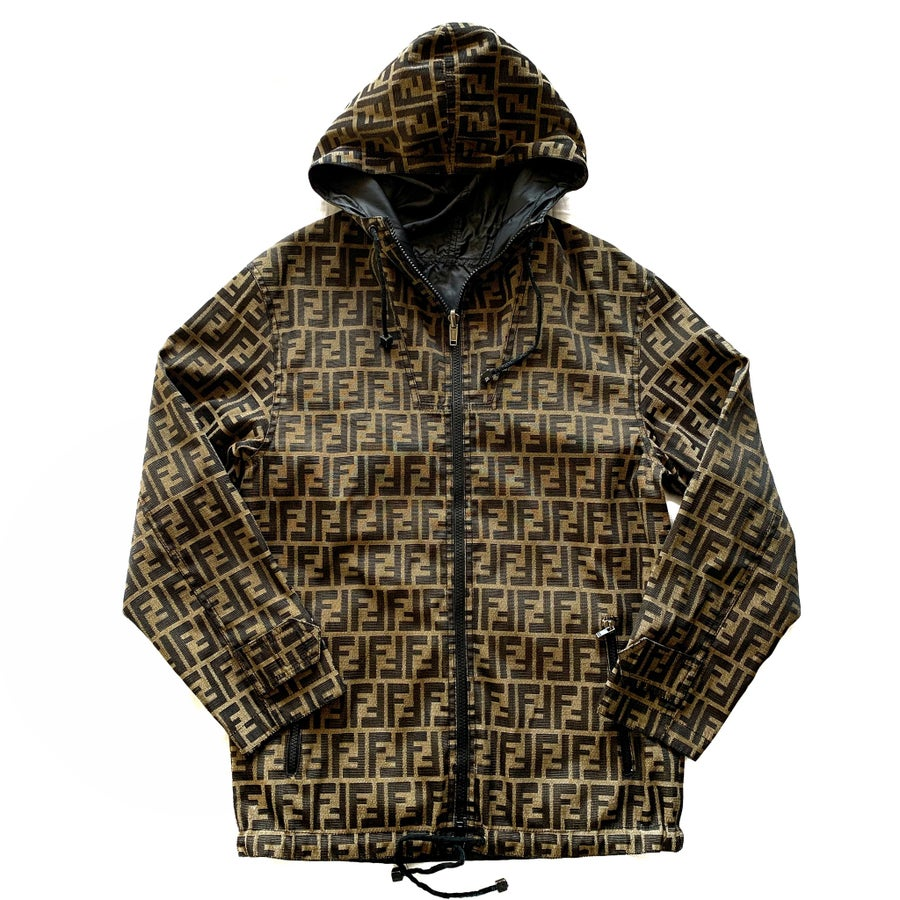 Image of Vintage Fendi Zucca Monogram Reversible Jacket