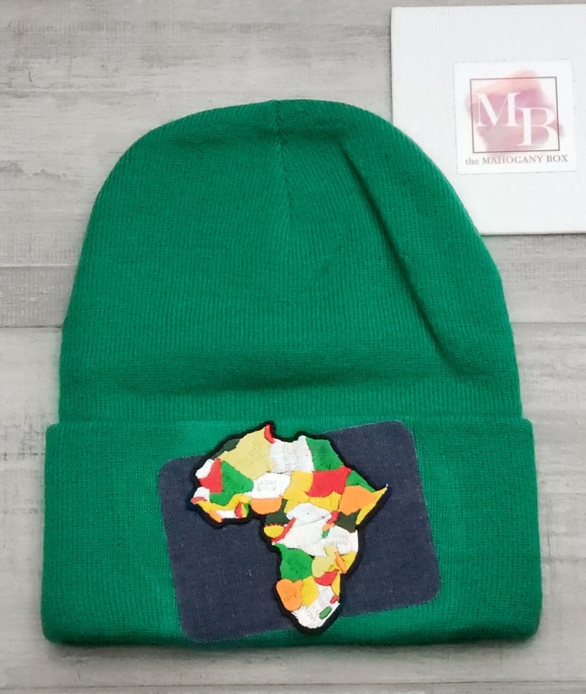 Image of Africa Denim Patch Beanie