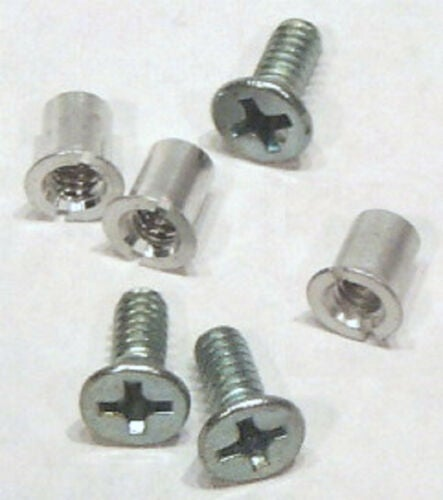 "Image of NAB 1/4"" Hardware Set Pack of 3 Screws & Barrel Nuts for Metal Tape Reels"