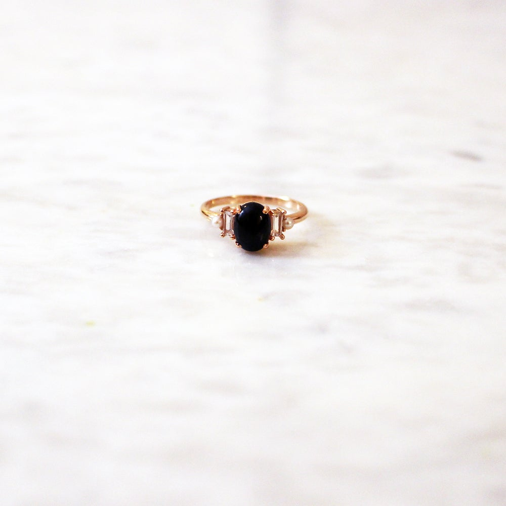 Image of Deco onyx ring