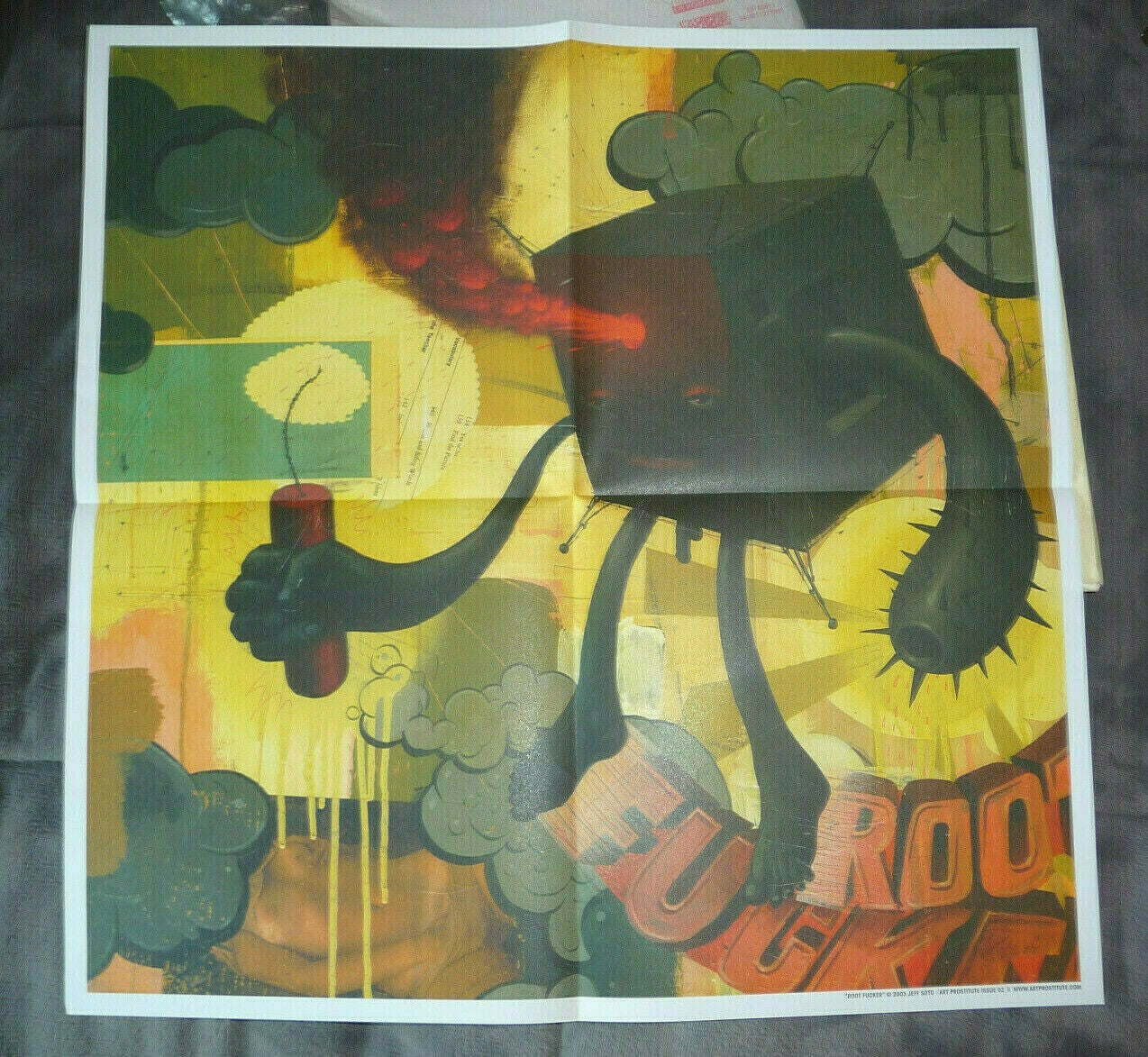 Image of JEFF SOTO ART PRINT FROM ART PROSTITUTE ROOT FUNKERS MINT