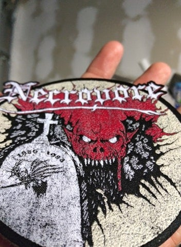 Necrovore Woven Patch laser cut *import*