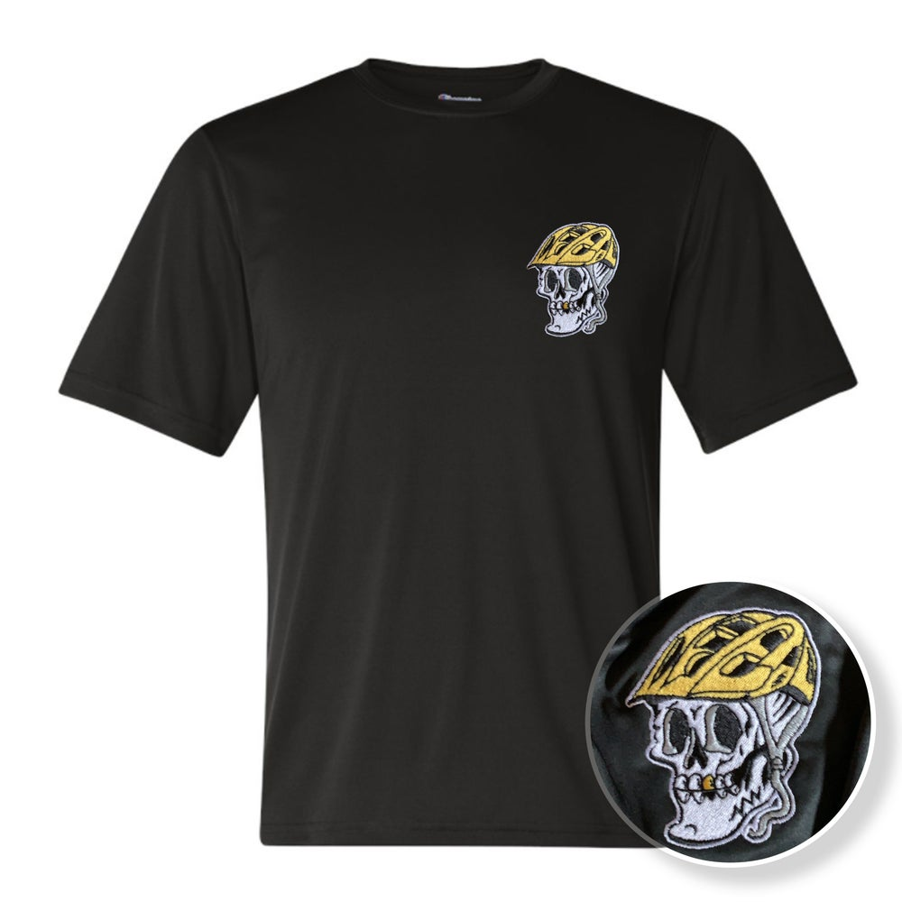 Image of Last Hill - Skull Embroidered Performance T-shirt