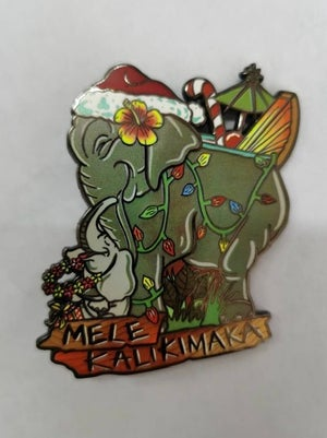 Image of Holiday Mele Kalikimaka Enamel Pin