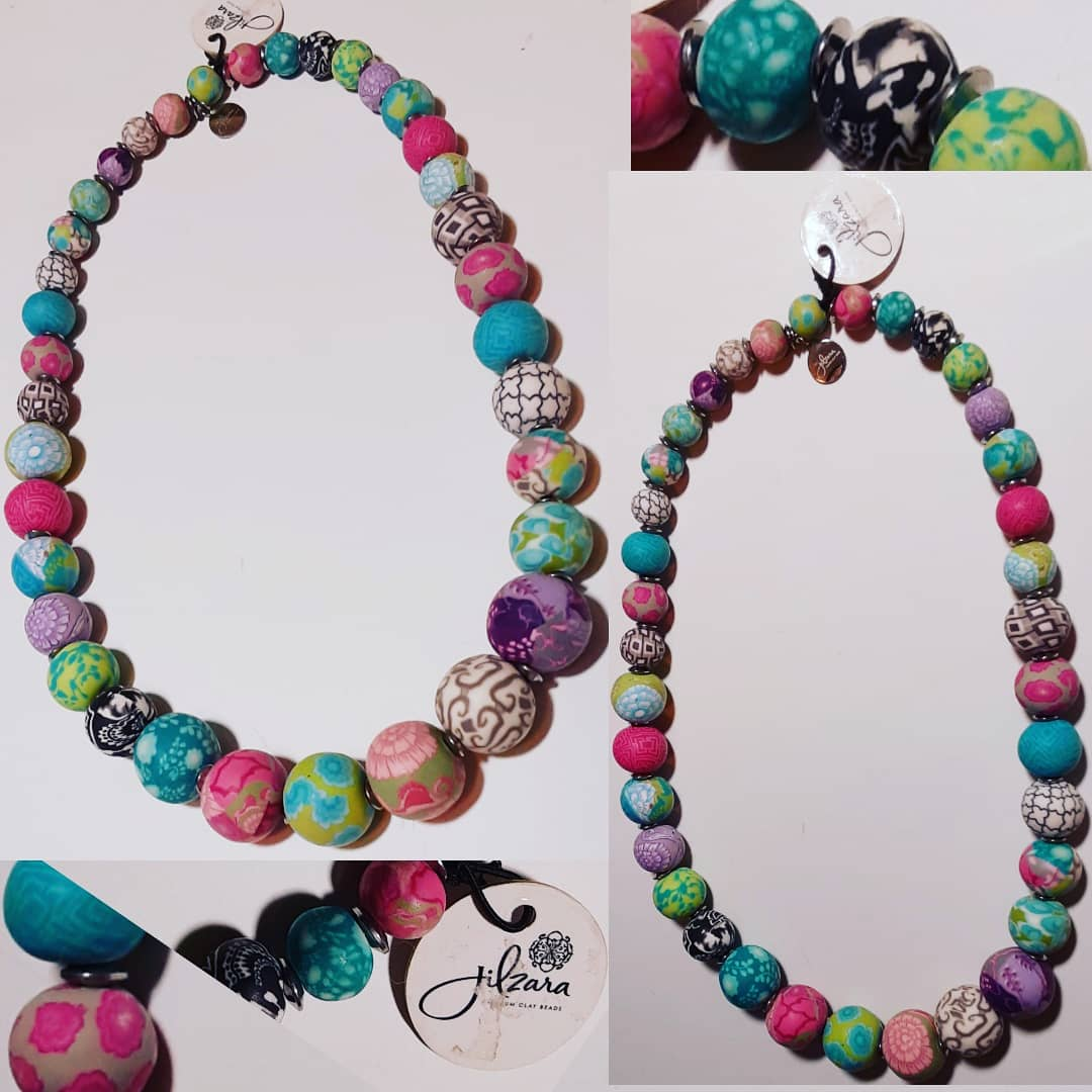Image of Jil Zara Clay Beaded Necklace