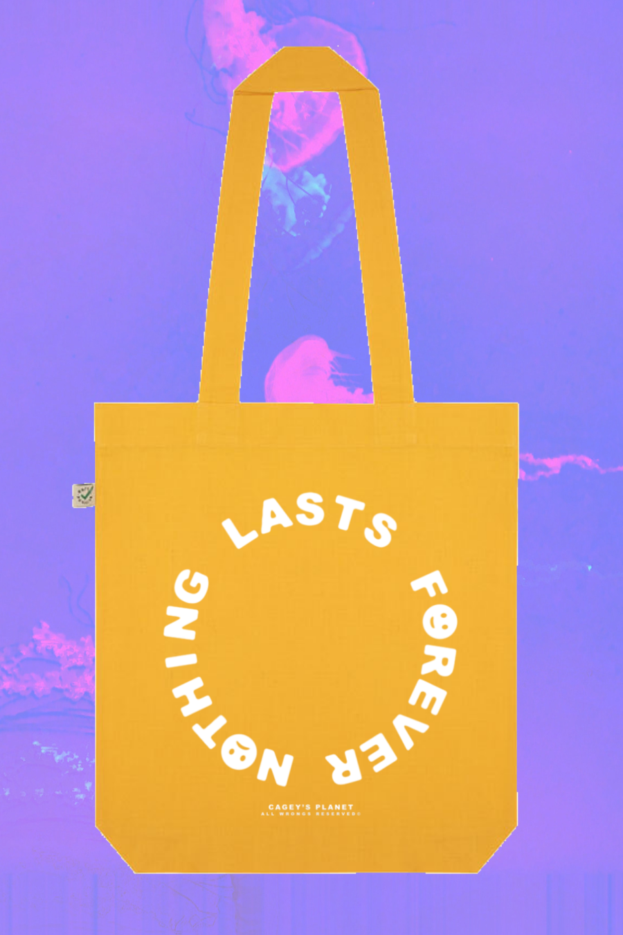 Image of Nothing Lasts Forever Tote Bag (Yellow)