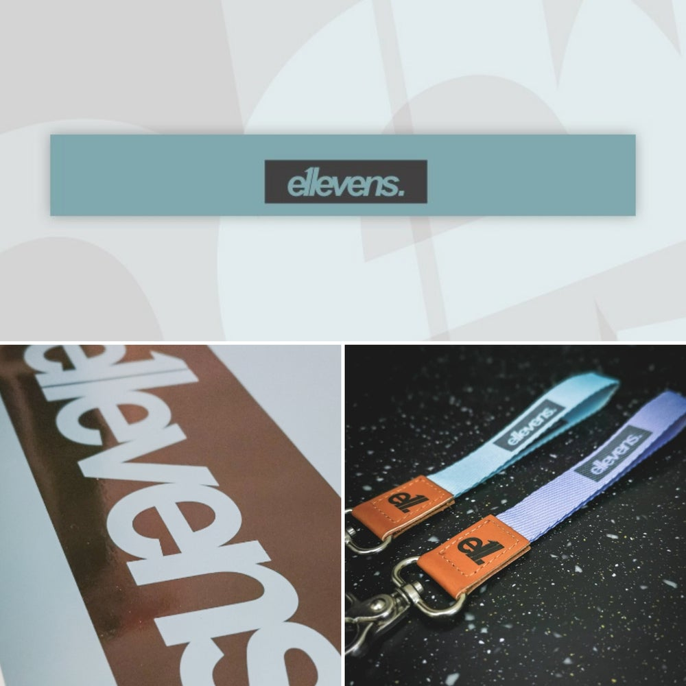 Image of E11evens sunstrip deal - Pastel teal gloss sunstrip 1500mm with matching wrisp lanyard