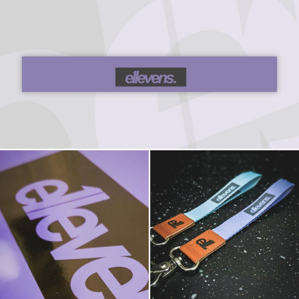 Image of E11evens sunstrip deal - Pastel purple gloss sunstrip 1500mm with matching wrisp lanyard