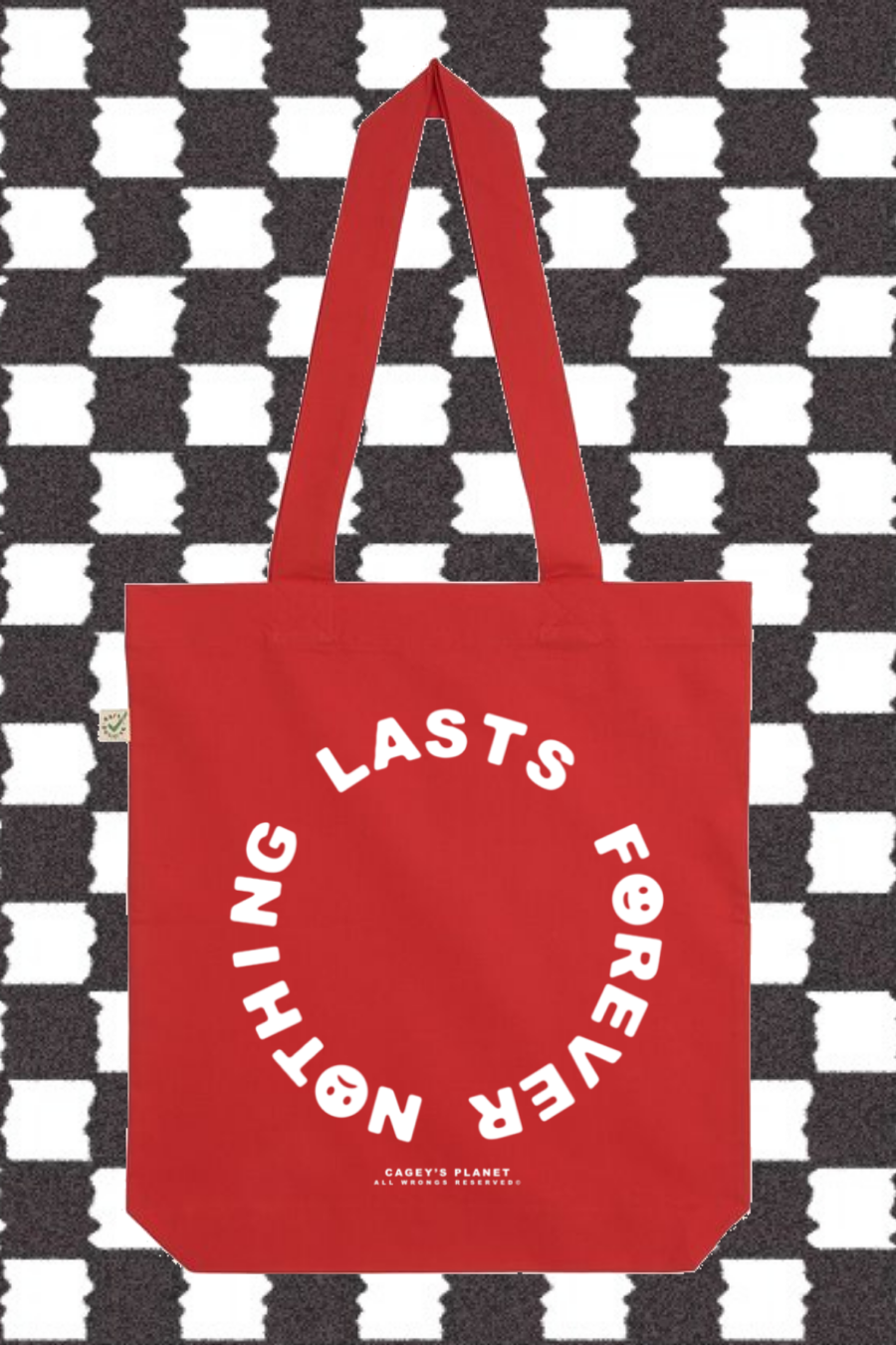 Image of Nothing Lasts Forever Tote Bag (Red)