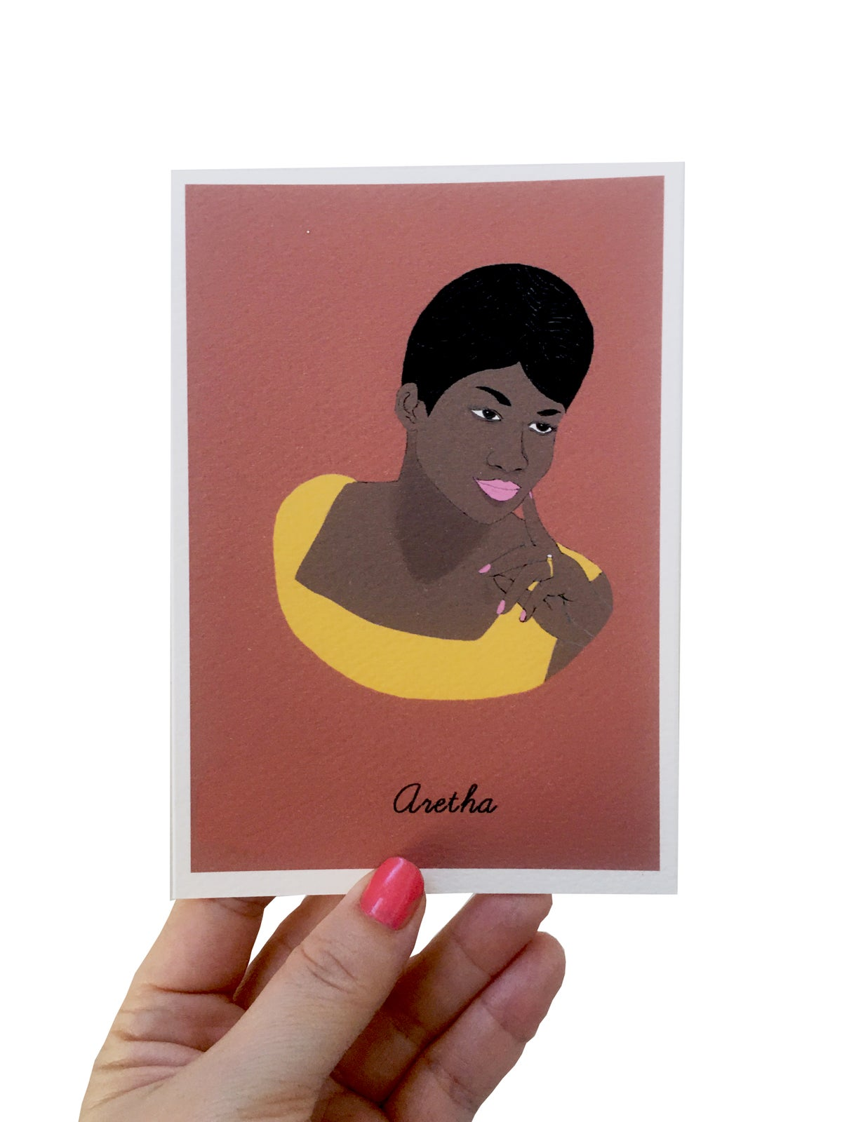 Aretha Franklin Iconic Figures Card