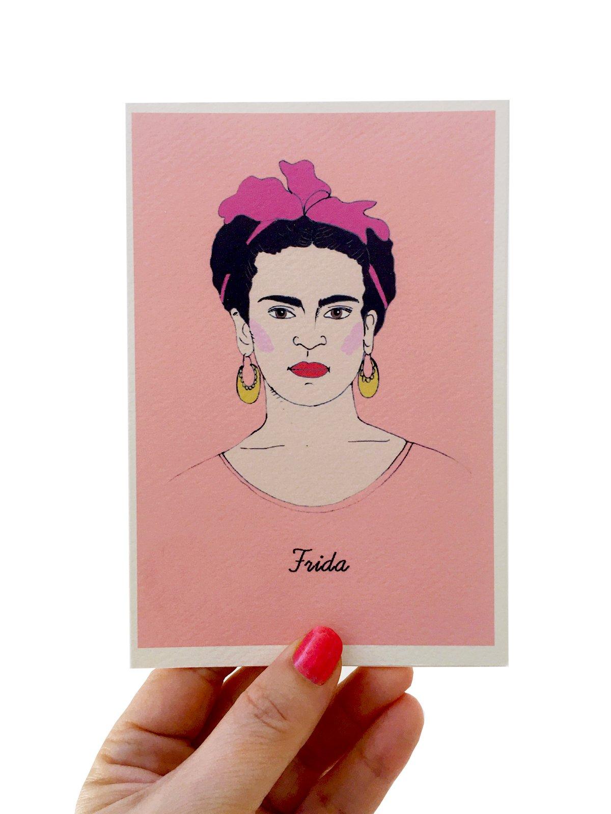 Frida Kahlo Iconic Figures Card