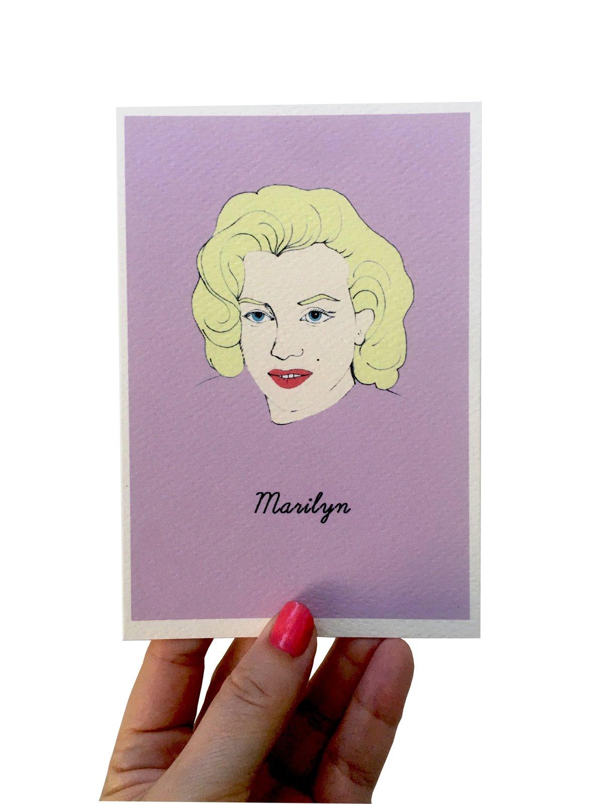 Marilyn Monroe Iconic Figures Card