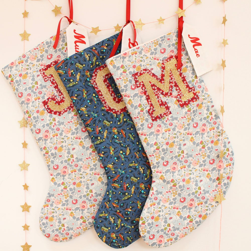 Image of Personalised Liberty Christmas Stocking