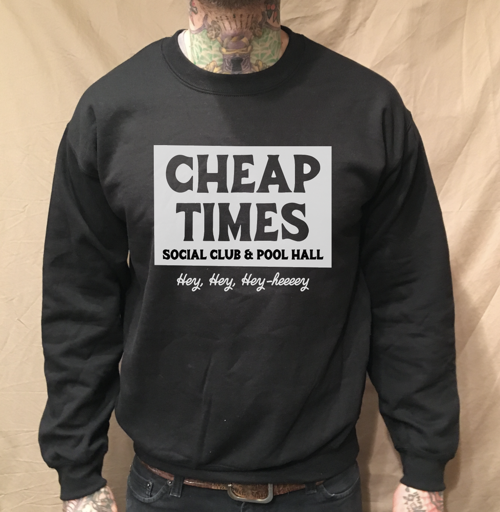 Image of CHEAP TIMES CREWNECK BLACK SWEATER