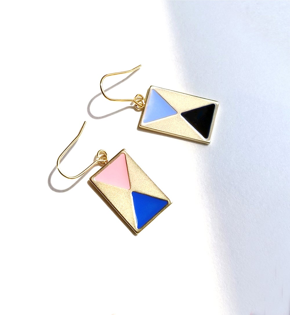 Color Block Earrings with french hook