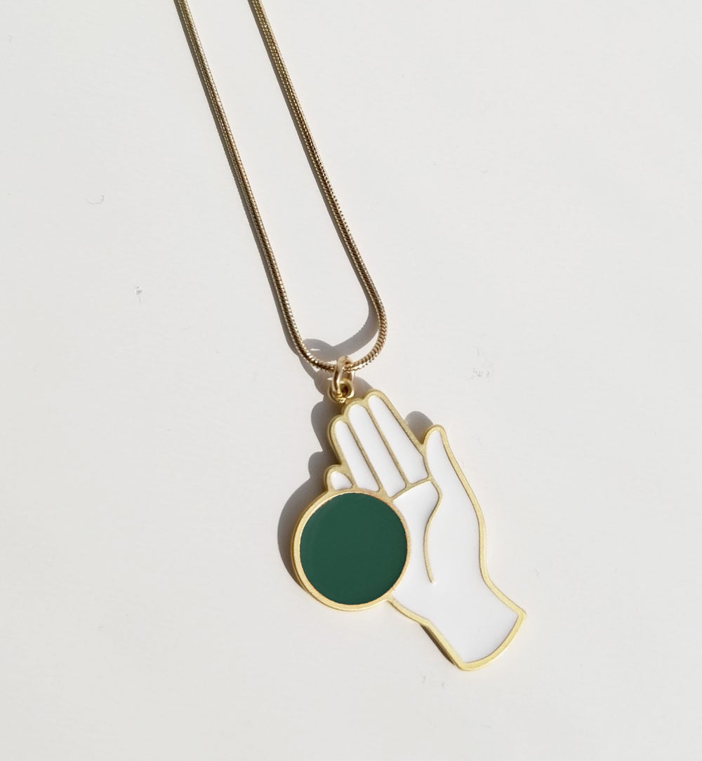 CHANCE NECKLACE Black and Green
