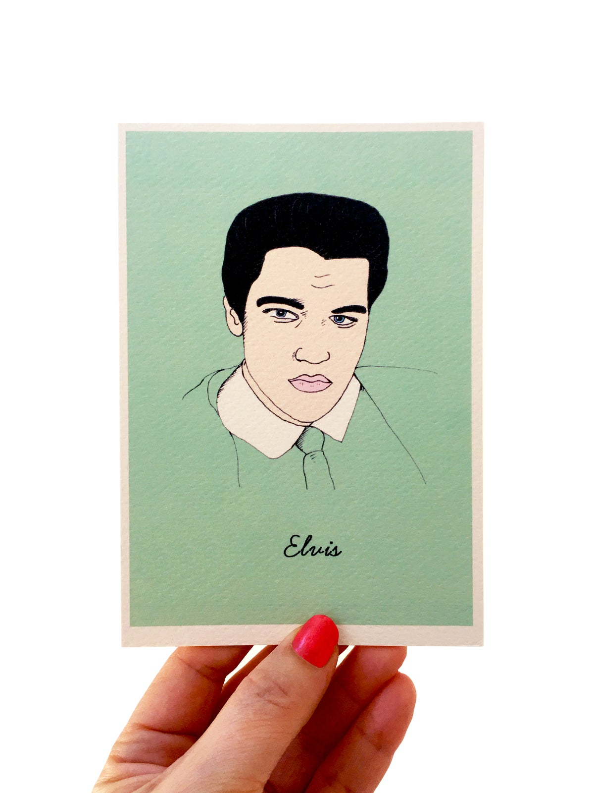 Elvis Iconic Figures Card