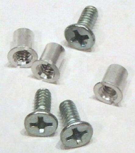 "Image of NAB 1/4"" Hardware Set Pack of 100 Screws & Barrel Nuts for Metal Tape Reels"