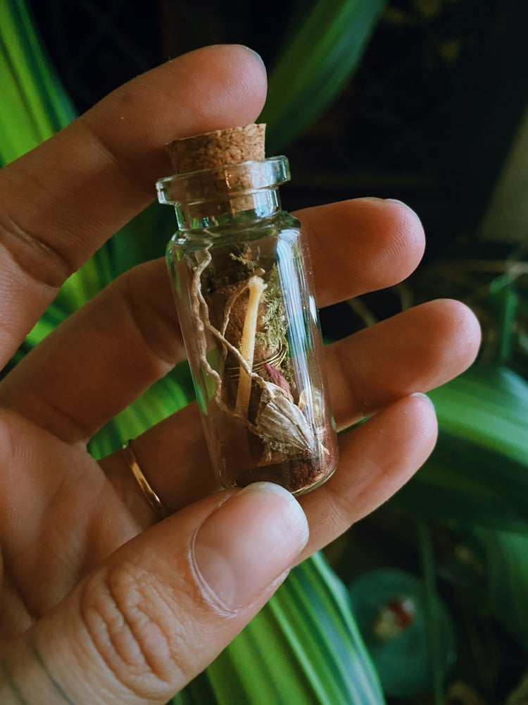Image of SAMHAIN witch bottle / Dragon's Blood & Cinnamon
