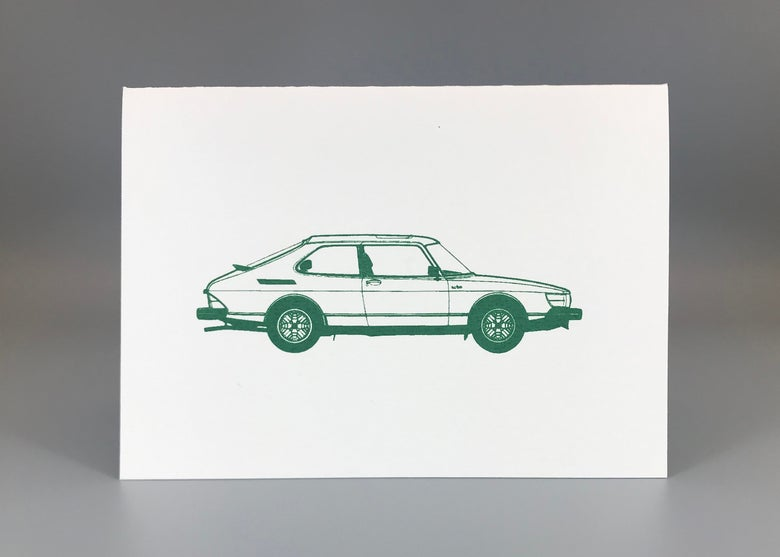 Image of Saab 900 Greeting Card