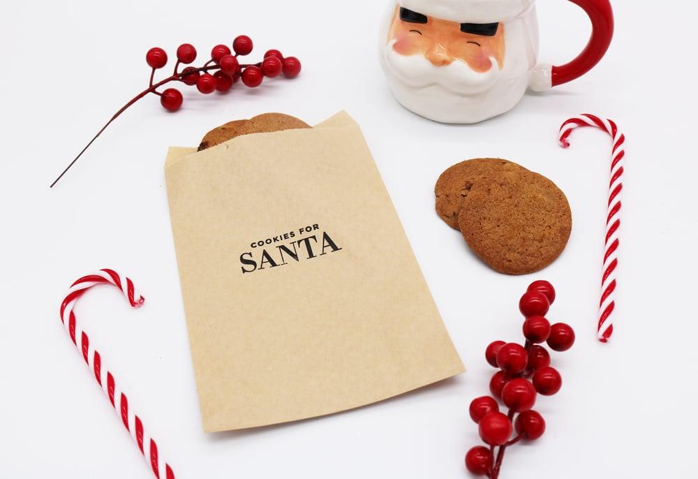 Image of Cookies for Santa Paper Treat Bag