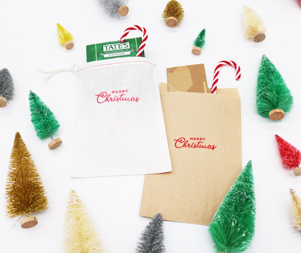 Image of Merry Christmas Paper Treat Bag