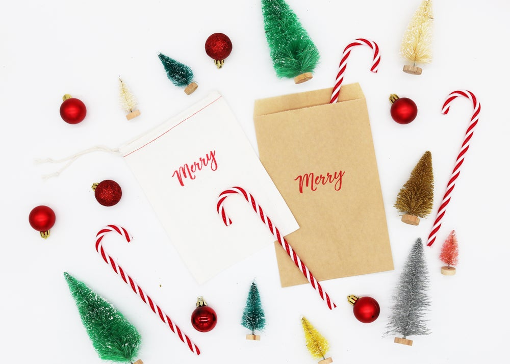 Image of Merry Paper Treat Bag