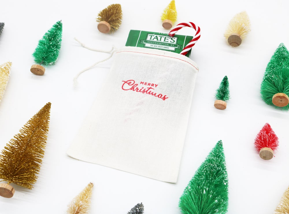 Image of Christmas Drawstring Treat Bag