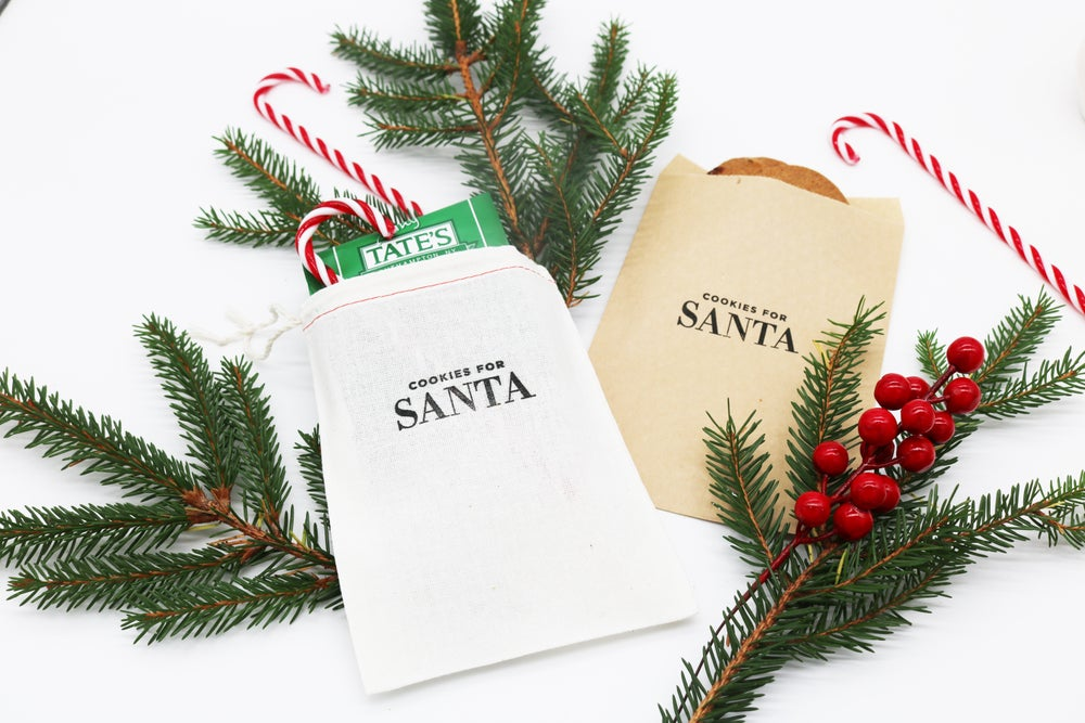 Image of Cookies for Santa Drawstring Treat Bag