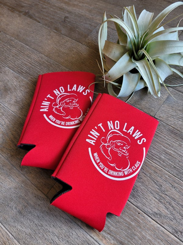 Image of Ain't No Laws Red Slim Can Koozie