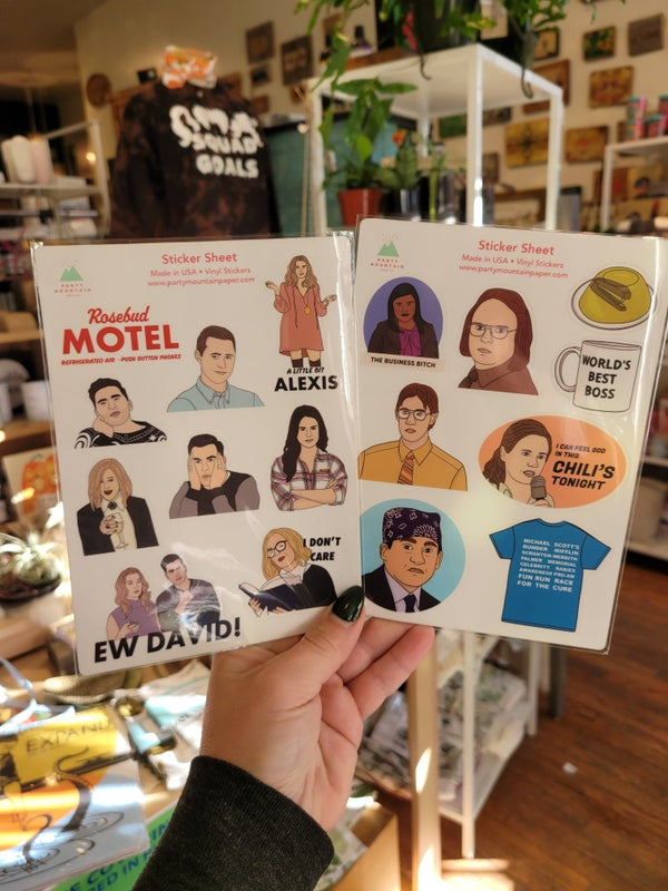 Image of Schitt's Creek or The Office Sticker Sheet