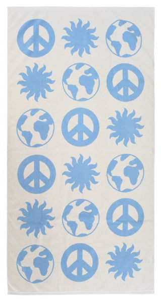 Image of EARTH Towel <div> Cream & Sky</div>