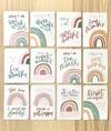 Baby milestone cards & muslin gift set