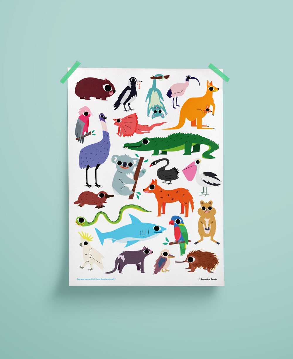 Image of A2 Aussie Animals Poster