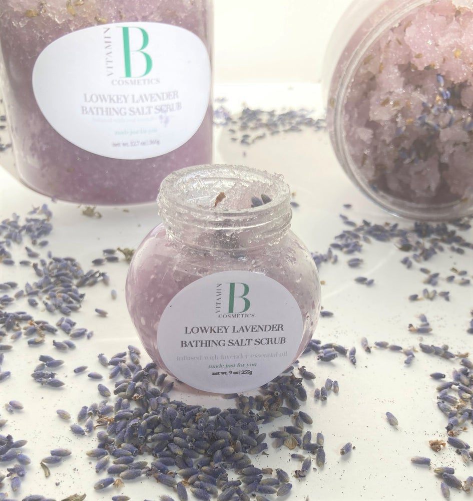 Image of Lowkey Lavender Bathing Salt Scrub - Body Scrub