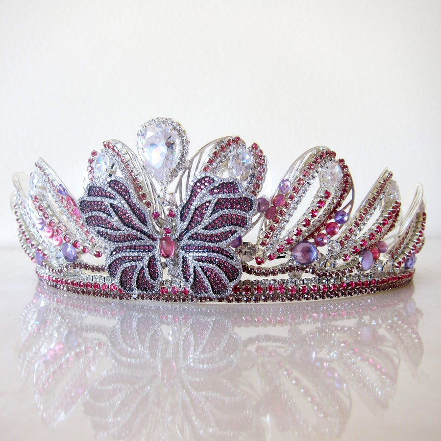 Image of Cherryplum Butterfly tiara