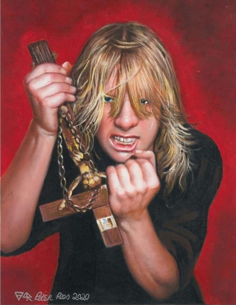 Image of Hell Awaits..Tribute to Jeff Hanneman limited edition artprints