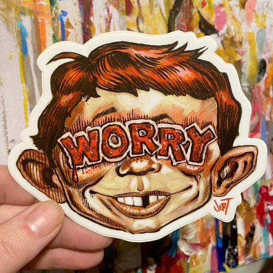 "Image of ""WORRY""-SLAP-Sticker"