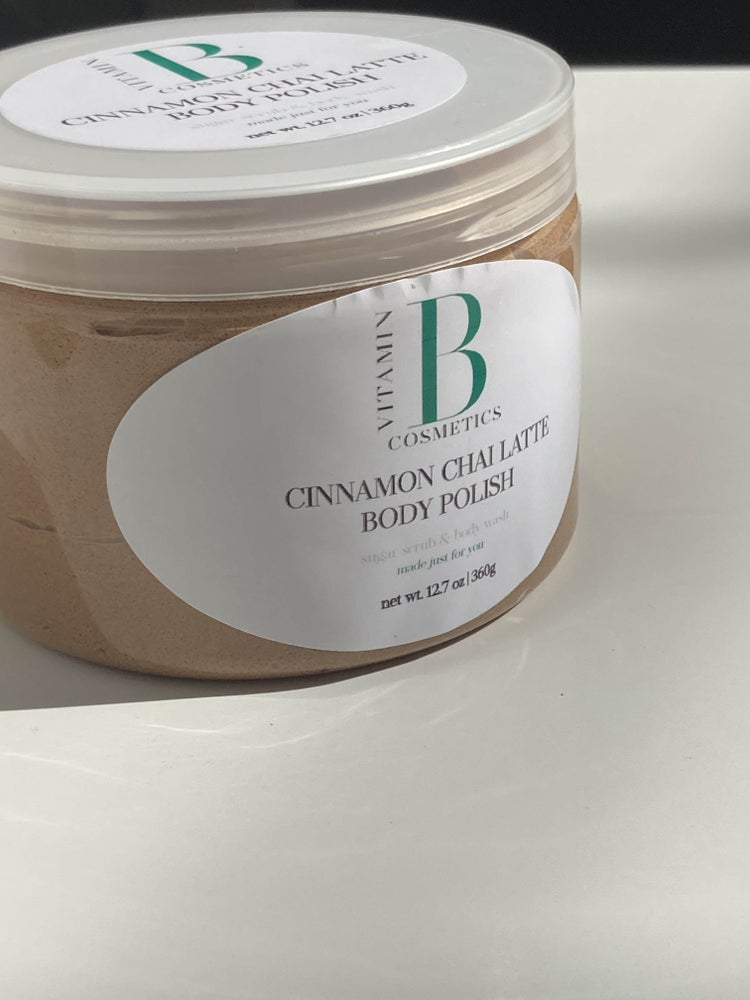 Image of Cinnamon Chai Latte Body Polish - Foaming Body Sugar Scrub