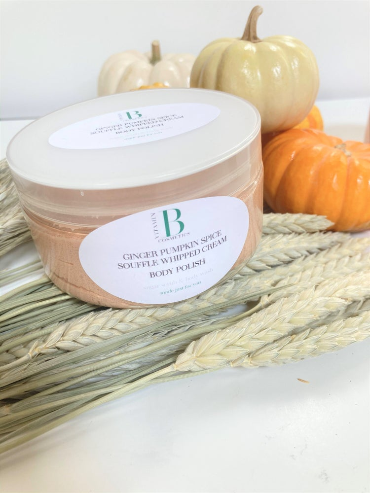 Image of Ginger Pumpkin Spice Souffle Body Polish - Foaming Body Sugar Scrub