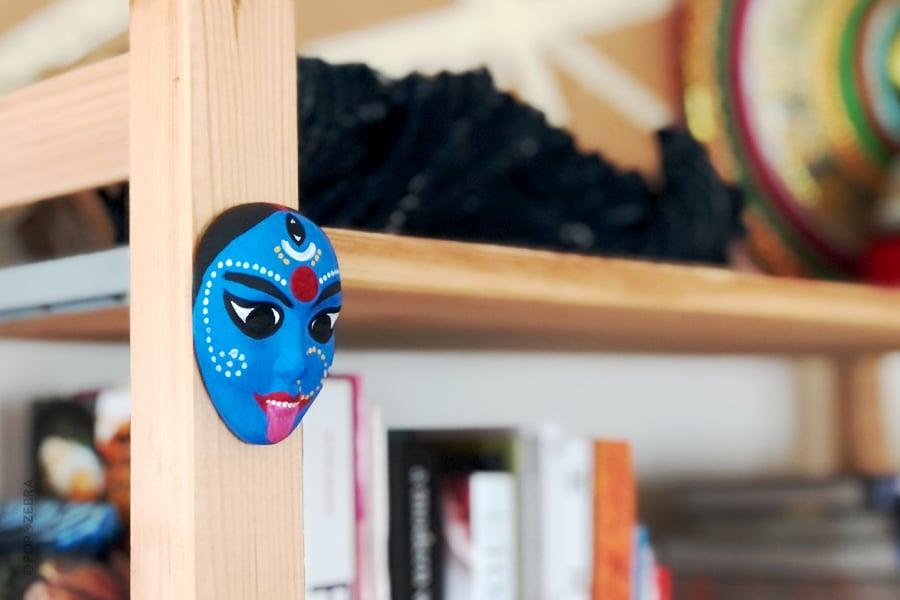Goddess Kali Blue Face Mask