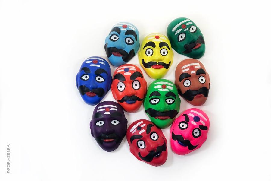 Colorful Raavan Face Masks