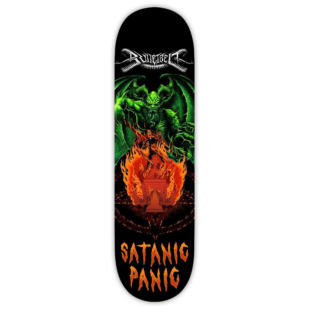 "Image of Bulletbelt ""Satanic Panic"" Skate Deck"