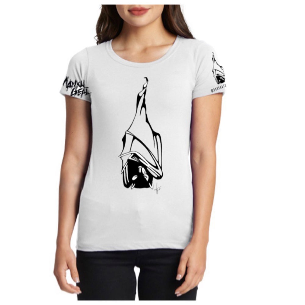 Image of Sleepy Bat Women's White Tee
