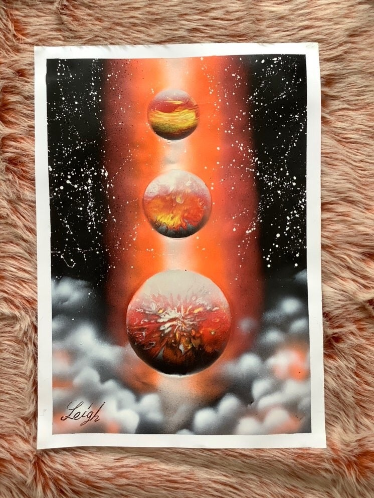 #4 A3 Acrylic Spray Painting by Leigh Lowry