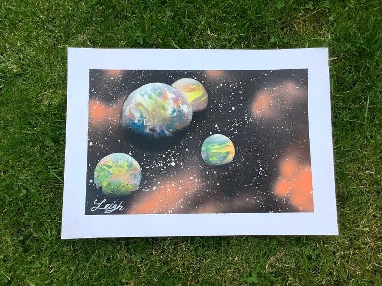 #5 A3 Acrylic Spray Painting by Leigh Lowry