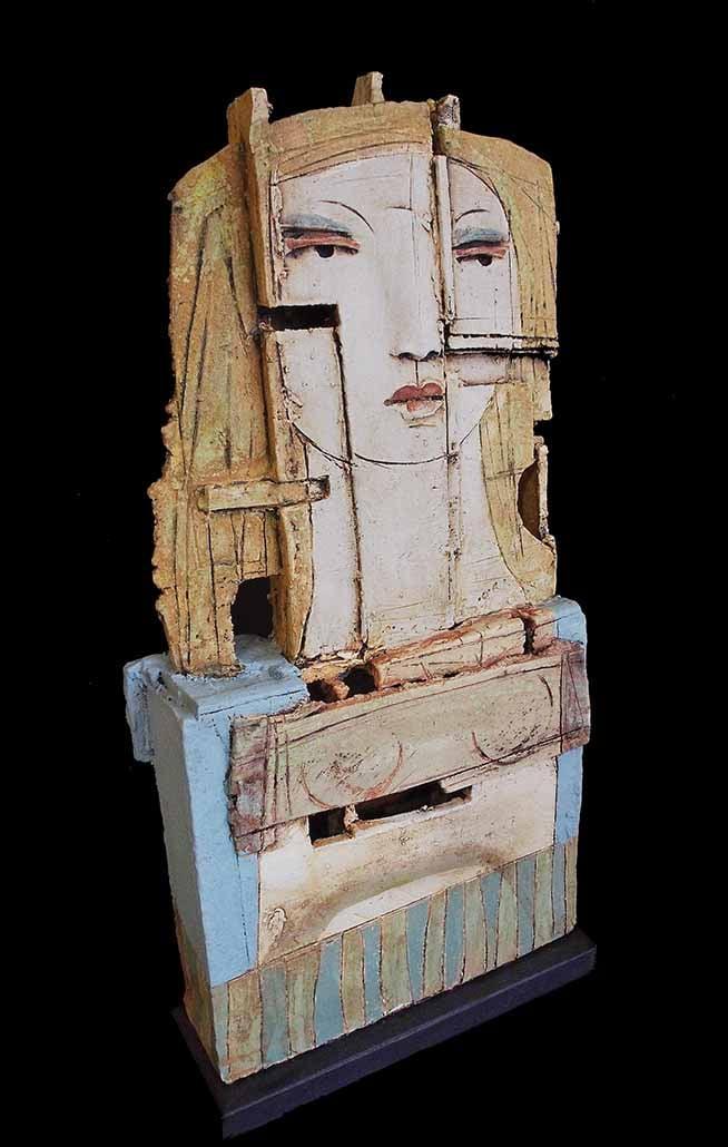 Image of CHRISTY KEENEY CERAMIC SCULPTURE - 'PORTRAIT OF DIVA'