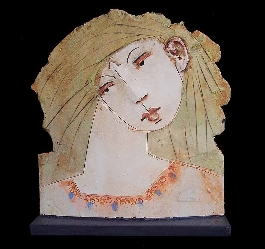 Image of CHRISTY KEENEY CERAMIC SCULPTURE - 'WOMAN'
