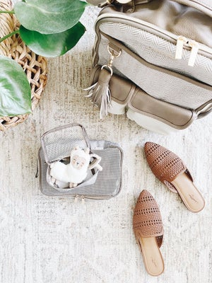 Image of Taupe Packing Cubes Set of 3